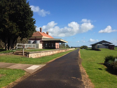 Koroit Station on Warrnambool to Port Fairy Rail Trail