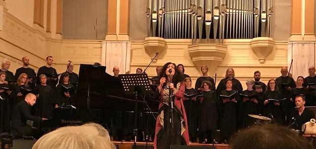 Mahsa Vahdat & SKRUK Choir with Tord Gustavsen piano, Greg Ellis percussion