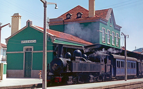 CP E163, Bragança (Tua line), Portugal, 1978