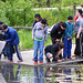 MOHEE students collect macroinvertebrates