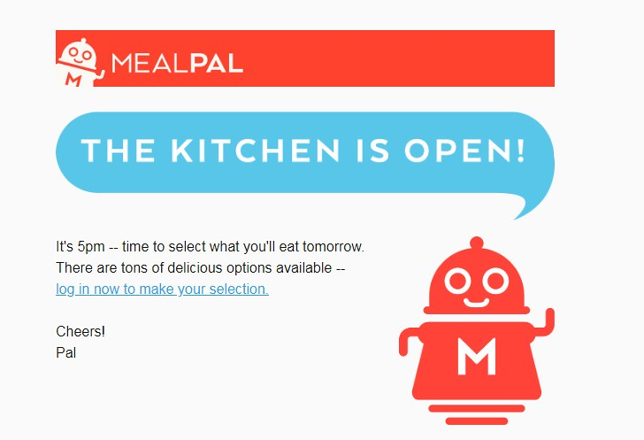 Mealpal reminder lunch notification