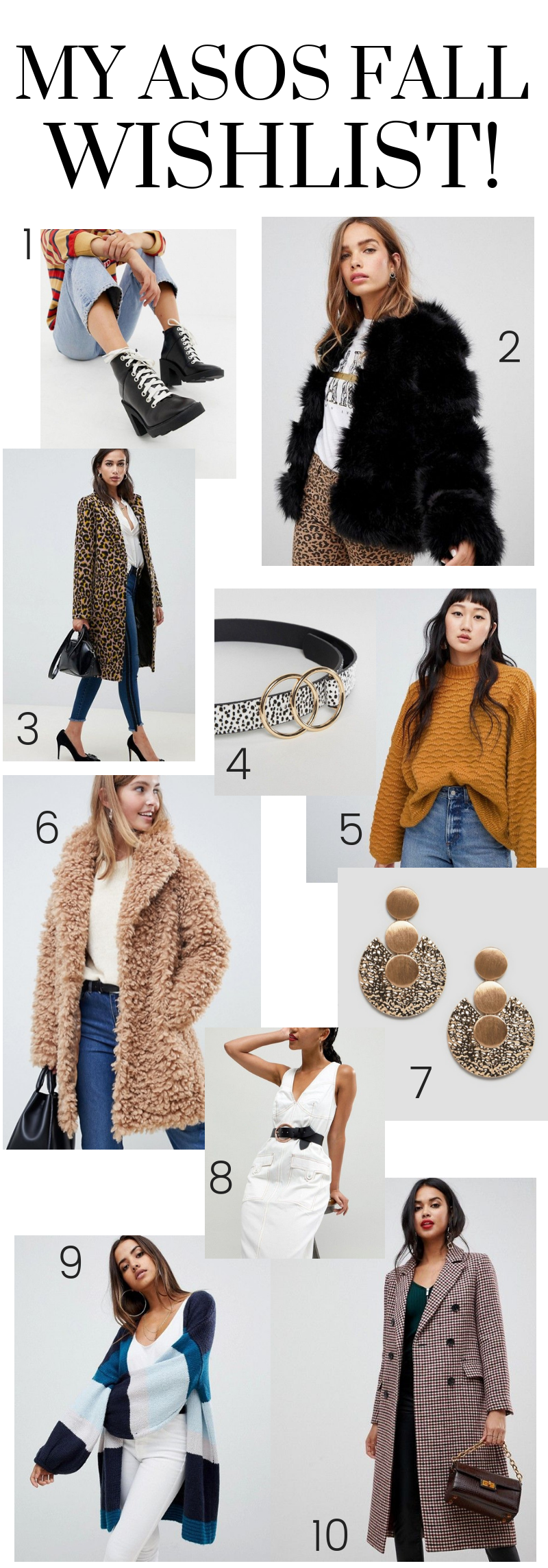 My ASOS Fall Wish List! Shopping Online Autumn Essentials Onsale