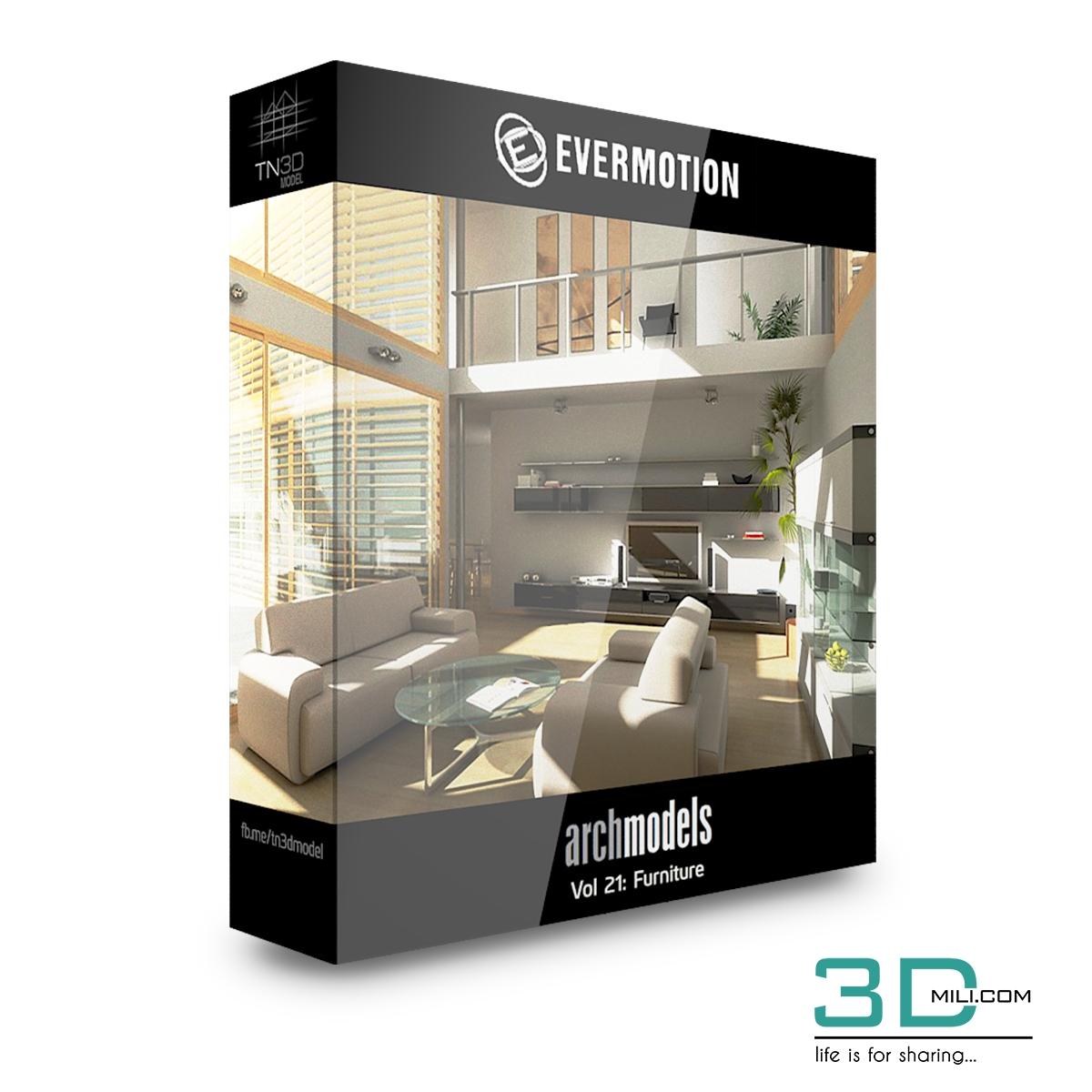 Evermotion Archmodels Vol 21: Furniture - 3D Mili - Download 3D