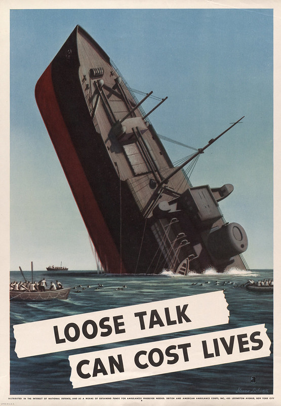Loose talk can cost lives (1942) - Stevan Dohanos (1907-1994)