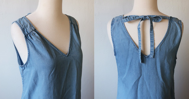 denim tank dress