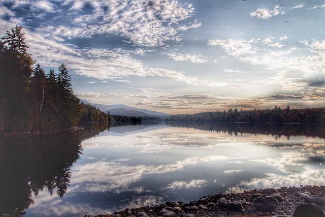 Lake Placid  ~ New York ~ Late  Sunset  ~ Autumn Leaves