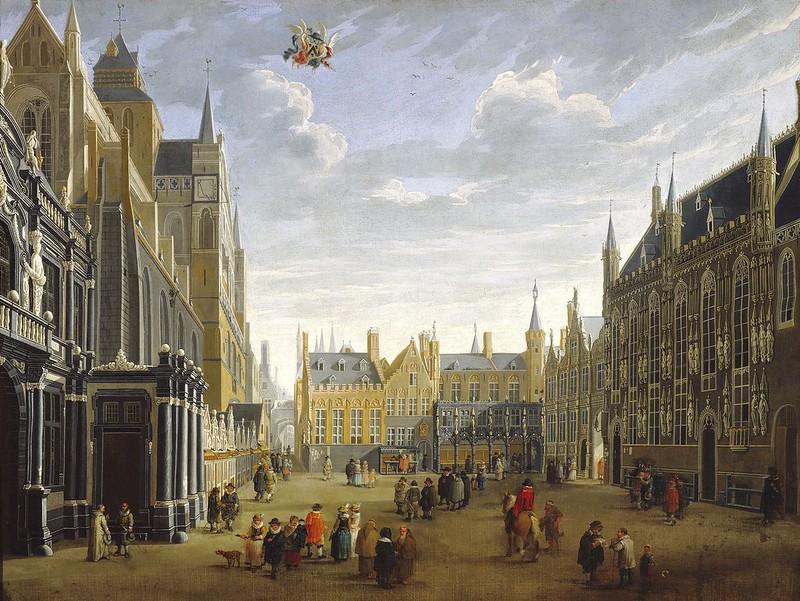 Jan Baptist van Meunincxhove - The Burg in Bruges (c.1695)