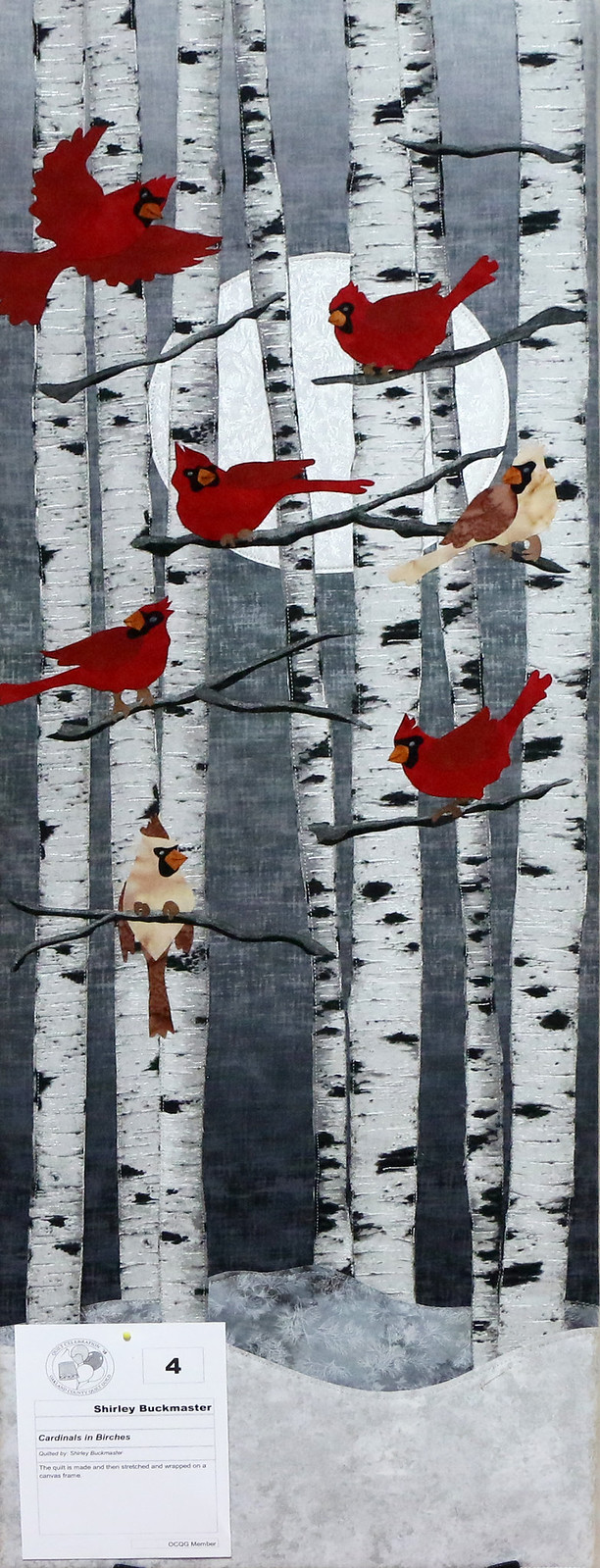 4: Cardinals in Birches - Shirley Buckmaster