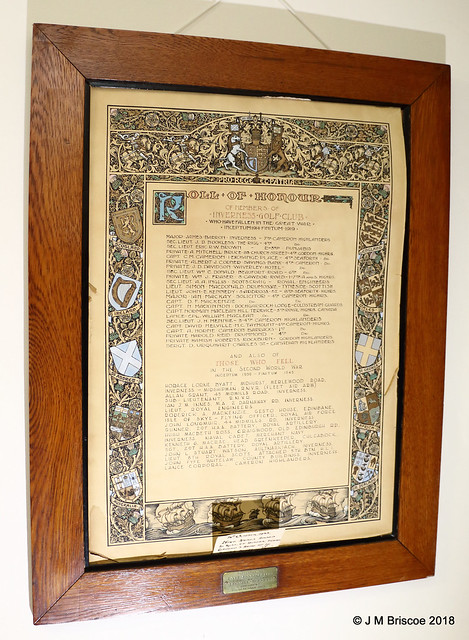 Inverness Golf Club WWI and WWII Roll of Honour