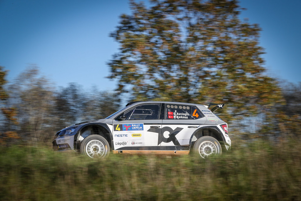 04 AVCIOGLU Orhan, (TUR), Burcin KORKMAZ, (TUR), TOKSPORT WRT, Skoda Fabia R5, Action during the 2018 European Rally Championship ERC Liepaja rally,  from october 12 to 14, at Liepaja, Lettonie - Photo Alexandre Guillaumot / DPPI