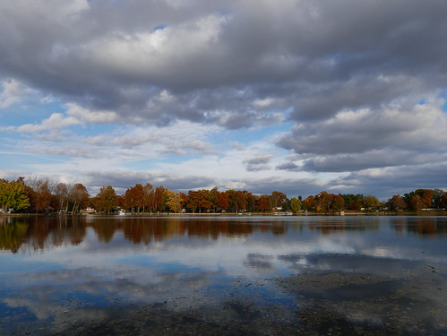 306365 stjosephriver autumn clouds fall project365 reflection river sky