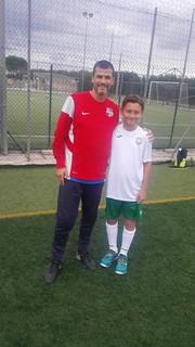 Giacinto Rella con l'allenatore Roberto Ricciardi della Virtus Acquaviva