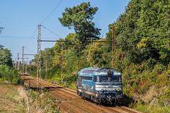 26 septembre 2018 BB 67589 Train 322410 Bordeaux-> Brive-la-Gaillarde Vayres (33) - Photo of Lugon-et-l'Île-du-Carnay