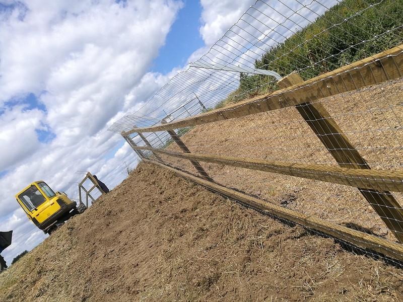 Anti-predator fence Nene Washes Thomas Pringle RSPB