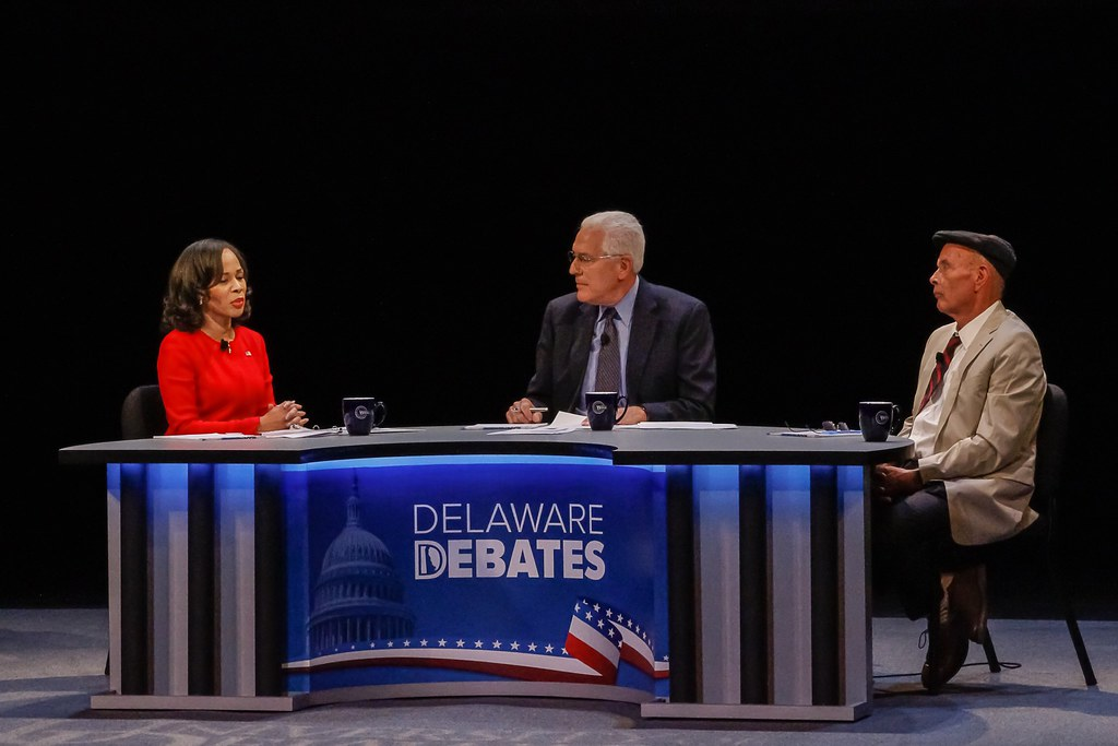 Blunt Rochester sticks to moderate script in debate against volatile Walker