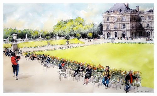 Paris - France - jardin du Luxembourg