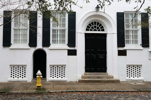 The Bible Depository (1828), now home to the German Friendly Society, 29 Chalmers Street, Charleston, SC