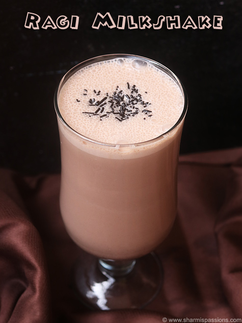 ragi milkshake recipe