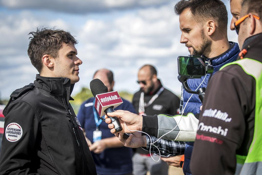 GRYAZIN Nikolay (LVA), FEDOROV Yaroslav (RUS), SPORTS RACING TECHNOLOGIES, Skoda Fabia R5, portrait during the 2018 European Rally Championship PZM Rally Poland at Mikolajki from September  21 to 23 - Photo Gregory Lenormand / DPPI