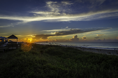 emeraldisle nc northcarolina beach sunrise sun landscape water ocean atlanticocean dock pier color colors colorful beautiful beauty hdr hdri sky cloud clouds canon 7d canon7d 1740 1740l 17mm iso100 f8