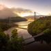 Bridges at Dawn by Simmie | Reagor - Simmulated.com