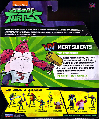 Nickelodeon  RISE of The TEENAGE MUTANT NINJA TURTLES :: MEAT SWEATS ..card backer ii (( 2018 )) [[ Standard U.S. release ]]