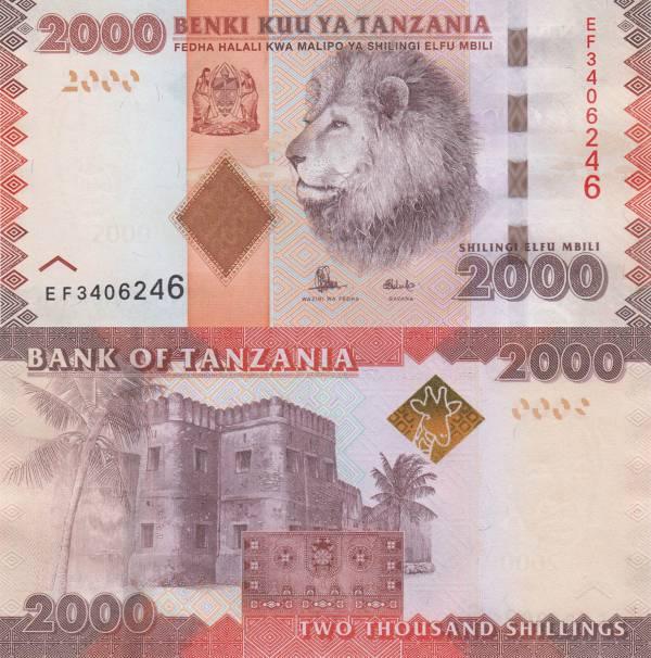 2000 Šilingov Tanzánia 2015, P42b