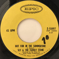 SLY & THE FAMILY STONE:HOT FUN IN THE SUMMERTIME(LABEL SIDE-A)