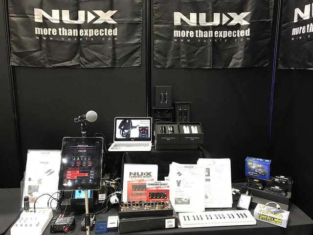 2018楽器フェア nux ブース