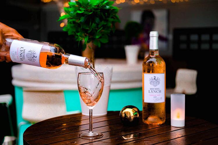 premium rose wine