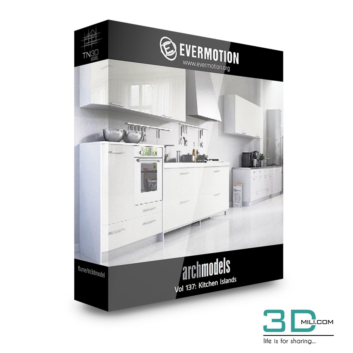 Evermotion Archmodels Vol 137: Kitchen Islands - 3D Mili - Download
