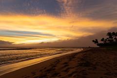 Sonnenuntergang Kaanapali beach Maui Hawaii