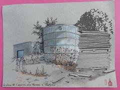 Citerne de l'ancienne usine Minerve à Quimperlé