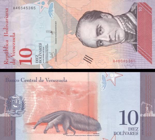 10 Bolívares Venezuela 2018, P103a