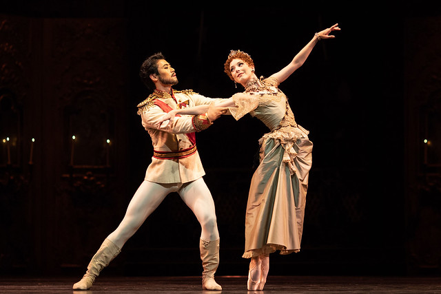 Ryoichi Hirano as Crown Prince Rudolf and Sarah Lamb as Marie Larisch in Mayerling, The Royal Ballet © 2018 ROH. Photograph by Helen Maybanks