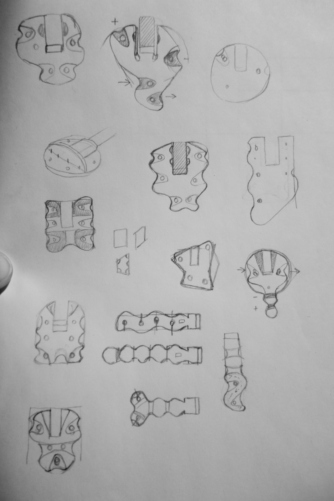 Lulu board shape sketches