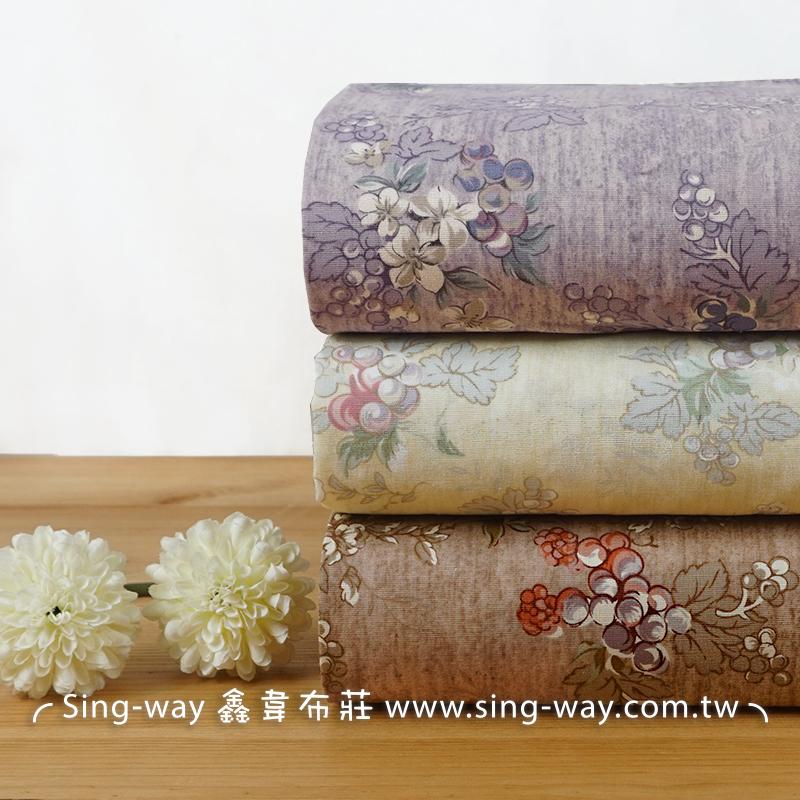 葡萄藤蔓 小花 籐本植物 水果 grape 手工藝DIY布料CA450770