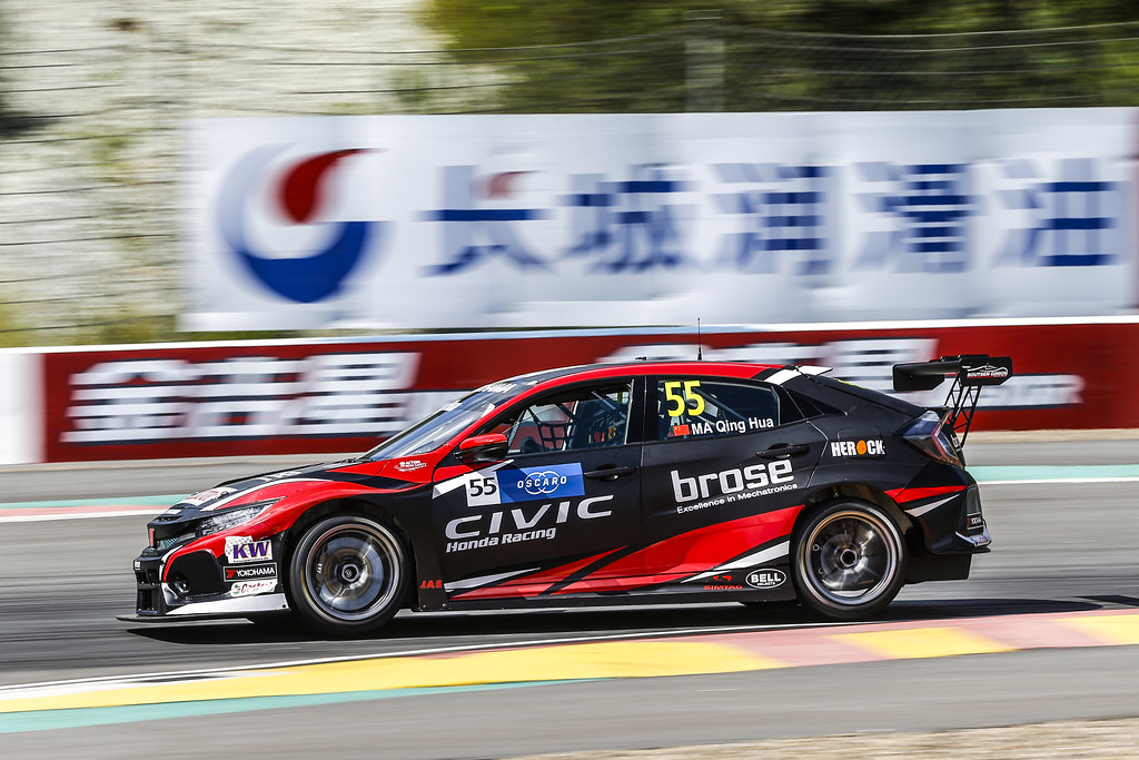 55 QING HUA Ma (chn), Honda Civic TCR team Boutsen Ginion Racing, action during the 2018 FIA WTCR World Touring Car cup of China, at Ningbo  from September 28 to 30 - Photo Jean Michel Le Meur / DPPI
