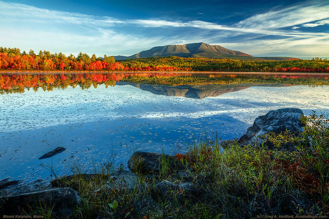 Mount Katahdin at Compass Pond
