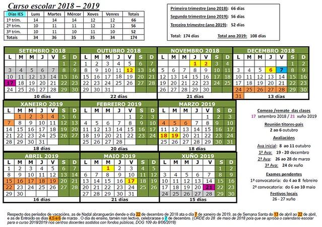 18-19 calendario escolar