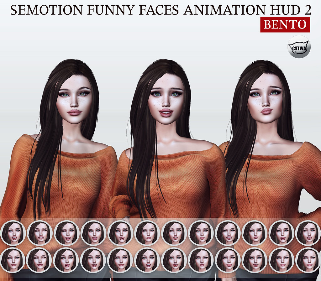 SEmotion Funny Faces Animation HUD 2 @ Gacha Garden