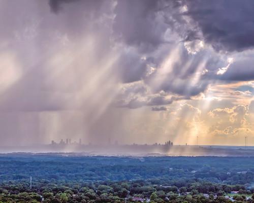 veil stonemountain summer atlanta skyline sky atl rain weather sunset clouds