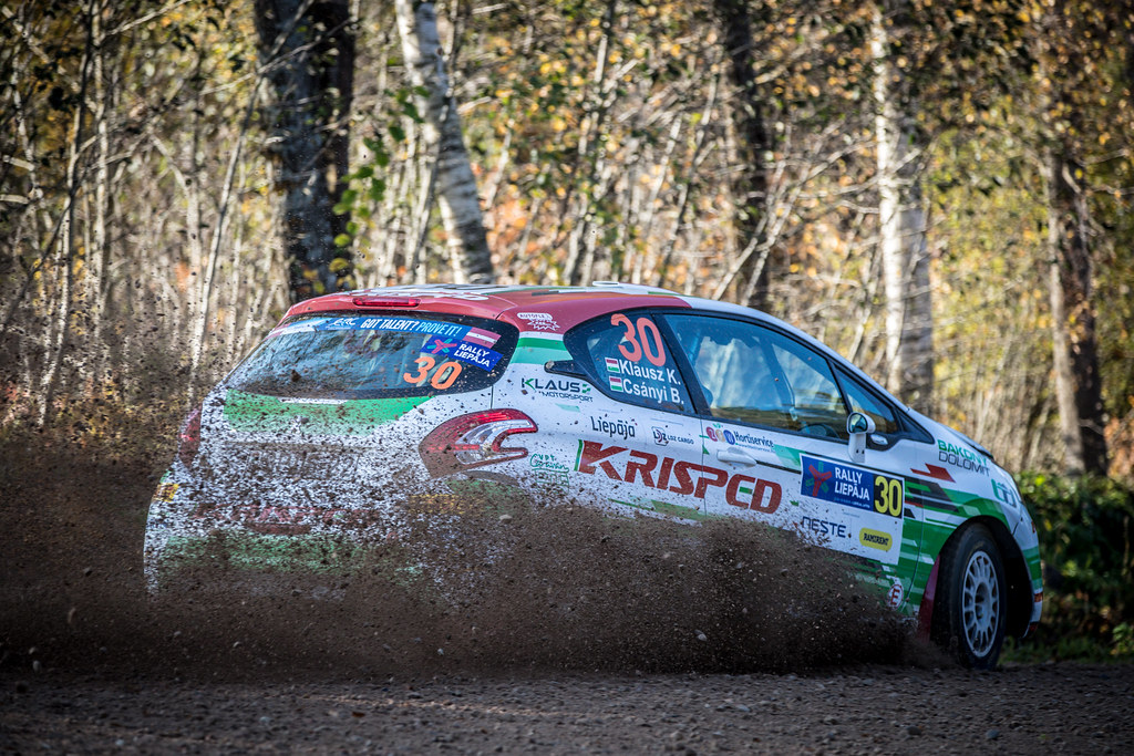 30 KLAUSZKristof, (HUN), Botond CSANYI, (HUN), KLAUS Motorsport, Peugeot 208 R2, Action during the 2018 European Rally Championship ERC Liepaja rally,  from october 12 to 14, at Liepaja, Lettonie - Photo Alexandre Guillaumot / DPPI