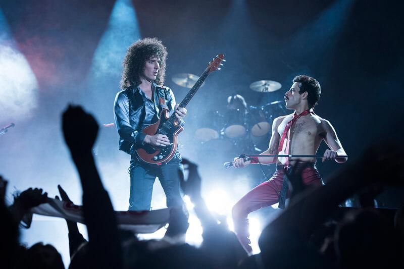 楽曲「ウィ・ウィル・ロック・ユー」演奏シーン、映画『ボヘミアン・ラプソディ』(原題 Bohemian Rhapsody )