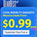 Gearbest Novelty Gadgets Massive Deals from $0.99 promotion