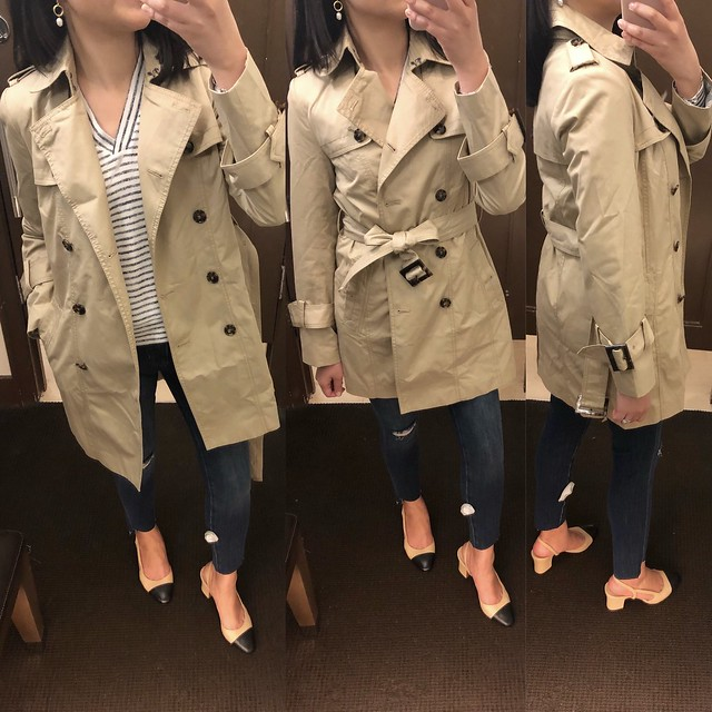 Banana Republic Water-Resistant Classic Trench Coat, size XSP
