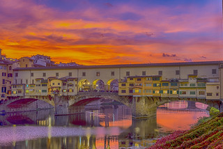 Ponte Vecchio at Sunset ©