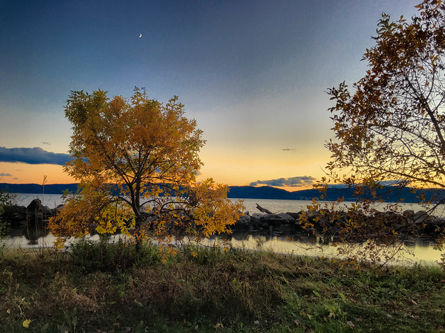 Sunset/Moonset at Croton Landing