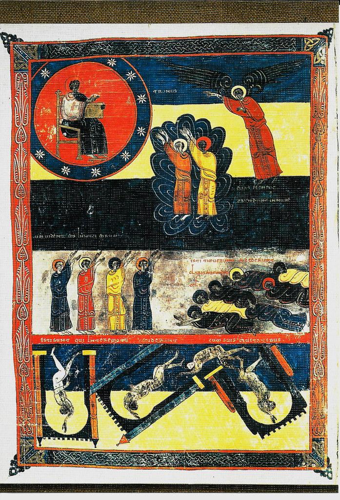 Elías y Enoc ascendiendo al cielo. Ap. XI. 12-14