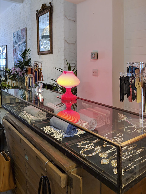 "Kotomi jewellery installed to ""63"", new pop-up-shop on Abbeville Road, Clapham, London"